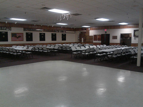 New Tables And Chairs In Banquet Hall